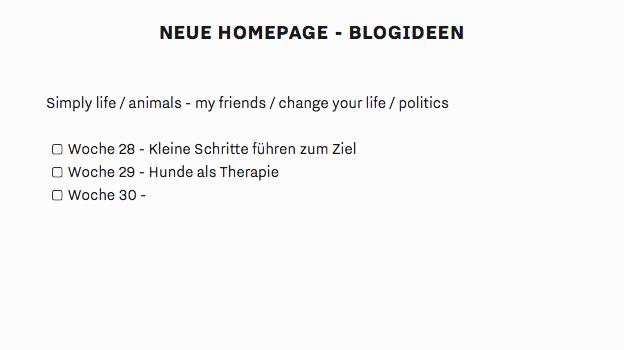 Neue Homepage und erster Beitrag
