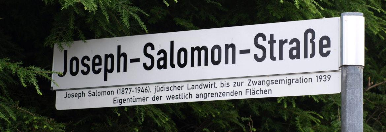 Joseph-Salomon-Straße – in die Zukunft blicken